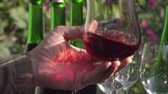 Sommelier Wine Tasting Stock Footage