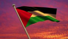 Palestinian Flag Animation – 4K Resolution Ultra HD Stock Footage