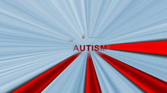 Autism text on maze concept Stock Footage
