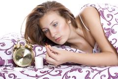 tablet for insomnia - stock photo