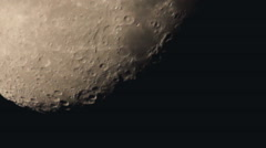 The moon, telescope view (focal length 4000 mm) Stock Footage