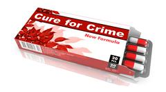 Cure for Crime - Blister Pack Tablets. Stock Illustration