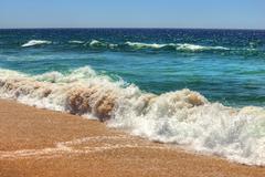 atlantic beach, portugal. - stock photo