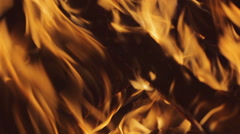 The blown fire, firewood, beautiful flame Stock Footage