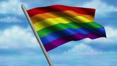 Rainbow Flag Animation – 4K Resolution Ultra HD Stock Footage