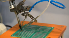 Welding circuits for electronics industries. HD Stock Footage
