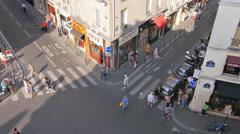 Tourist shopping during sales paris Stock Footage