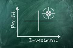 profit investment  diagram - stock illustration