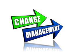 change management in arrows - stock illustration