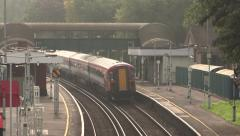 London Train Station Stock Footage
