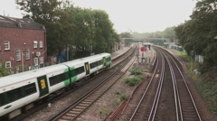 Train Station in London Stock Footage