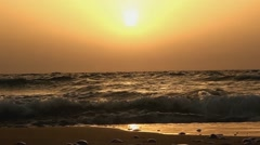 Sunset above a sea in speed-up motion Stock Footage