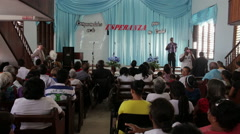 Stock Video Footage of Song Service at a Church in Cuba