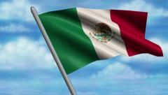 Mexican Flag Animation – 4K Resolution Ultra HD Stock Footage