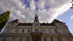 Baroque style building time lapse Stock Footage