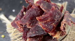 Beef jerky (loopable) Stock Footage