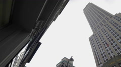 Stock Video Footage of Empire State Building Midtown Manhattan New York City NYC 4K 5th Ave