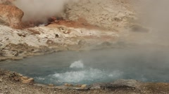 Boiling Waters of a Volcanic Pool Stock Footage