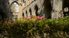 The Abbey of Beauport, Paimpol, Brittany, France Stock Footage