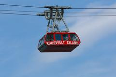 roosevelt island tramway cable car - stock photo