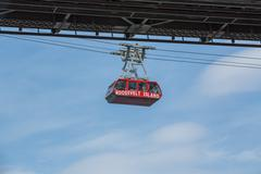 Roosevelt island tramway cable car Stock Photos