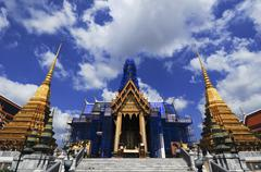 the emerald buddha temple - stock photo