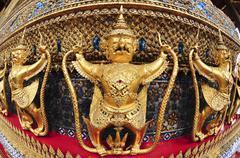 The garuda at the emerald buddha temple Stock Photos