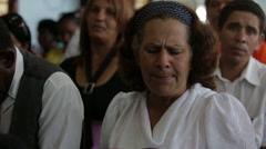 Woman Sings in Church in Cuba Stock Footage