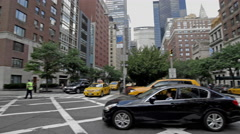 MetLife Building Park Ave Taxi Taxicab Midtown Manhattan New York City NYC 4K Stock Footage