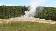 Steam Rises from Yellowstone's Old Faithful Geyser Stock Footage