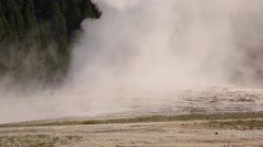Steam Rises From Volcanic Geyser Stock Footage