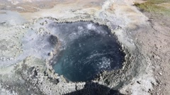 Colorful Boiling Volcanic Pool Stock Footage