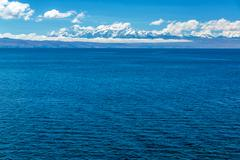 andes and lake titicaca - stock photo