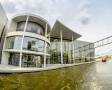 berlin - may 27, 2012: tourists visit the modern buildings in bundestag area  - stock photo
