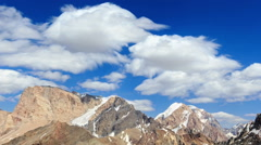 Smearing clouds in mountains. Time Lapse. Pamir, Tajikistan Stock Footage