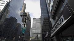 MetLife Building Park Ave Wells Fargo Midtown Manhattan New York City NYC 4K Stock Footage