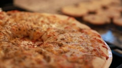 Pizza and cookies for dinner Stock Footage