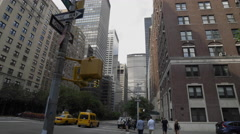 MetLife Building Park Ave Taxi Cab Taxicab Manhattan New York City NYC 4K Stock Footage