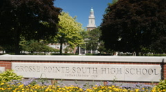 GROSSE POINTE HIGH SCHOOL - stock footage