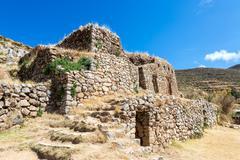 palace of the inca - stock photo