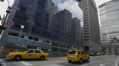 MetLife Building Park Ave Taxi Cabs Taxicab Manhattan New York City NYC 4K Stock Footage