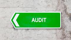 Green sign - audit Stock Photos