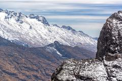 andes mountains view - stock photo