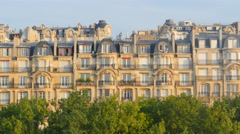 Parisian typical building  palace uhd 4k Stock Footage