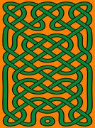 Abstract celtic ornament - stock illustration