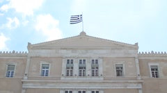 Changing Of The Guard, Evzones, Athens, Greece Stock Footage