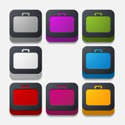 Stock Illustration of square button: portfolio
