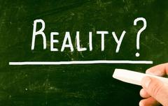 Reality concept Stock Illustration