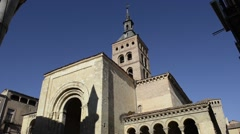 San Martin Church in Segovia, Spain Stock Footage