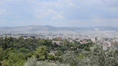 Temple of Hephaestus from the Acropolis, Athens, Greece. Stock Footage